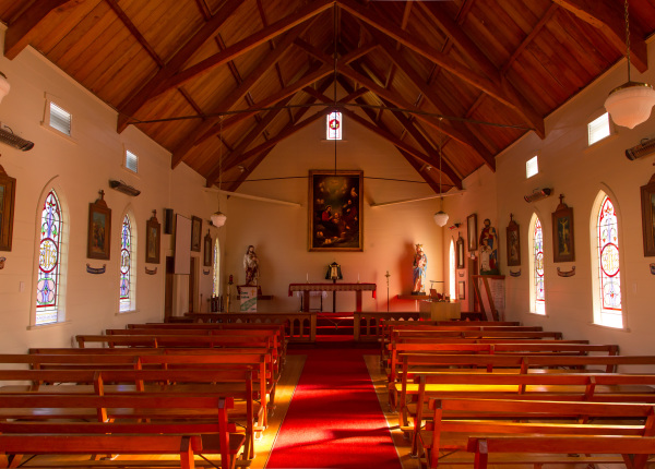Puhoi Catholic Church interior
