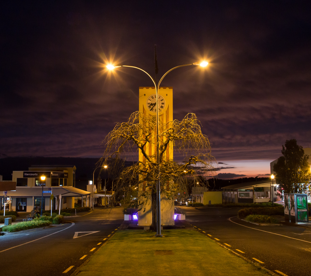 Te Aroha street scene Friday evening