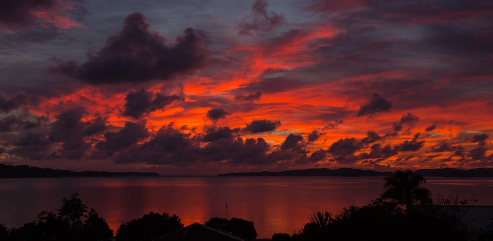 Sunrise over Kawau Bay, World on Fire