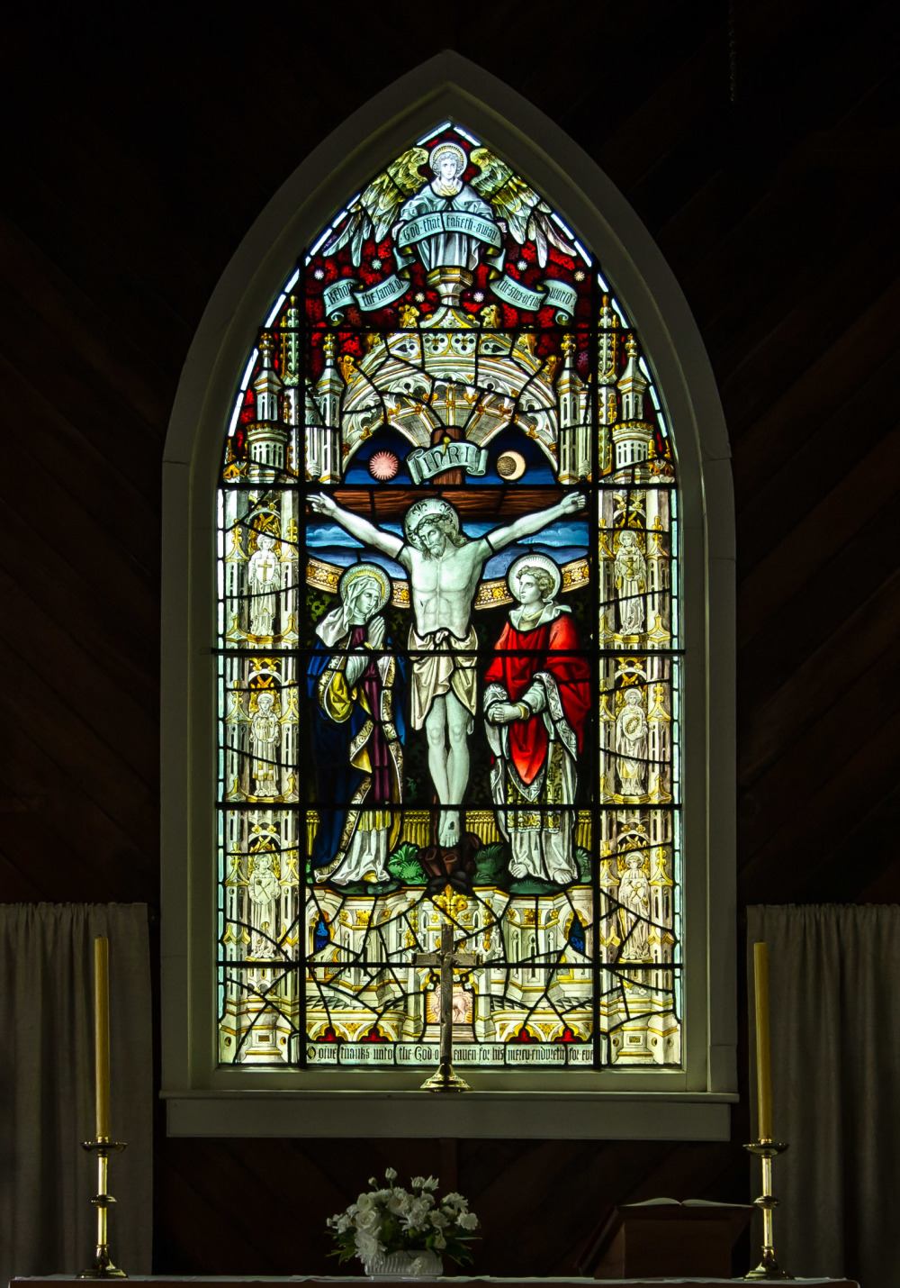The Altar Window at Christ Church Warkworth