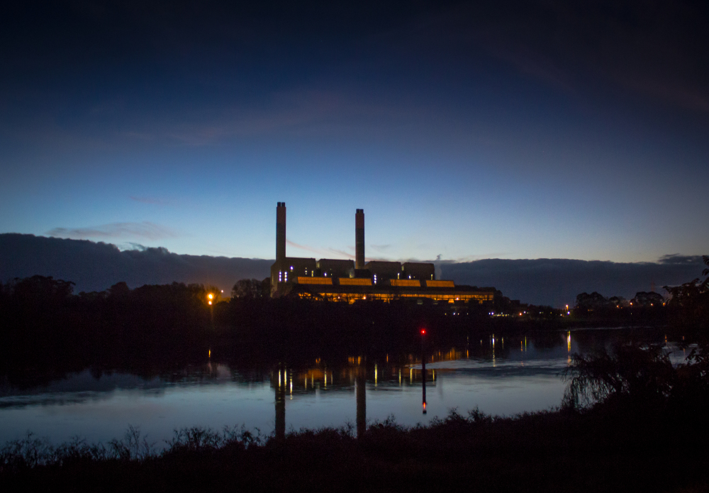 Huntly Power Station at dusk