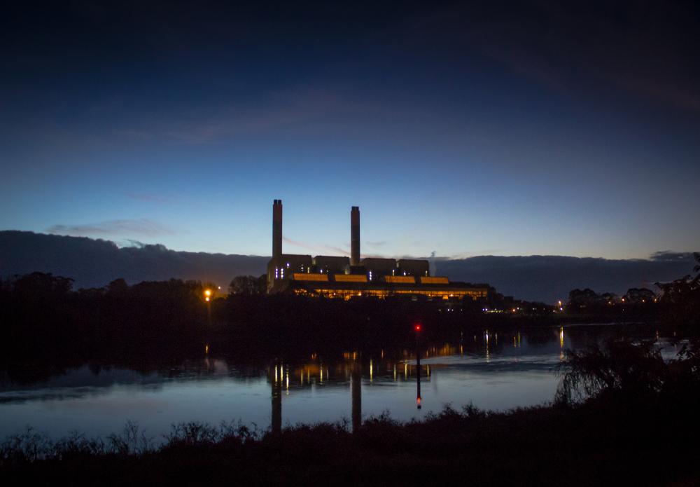 Huntly Power Station at dusk