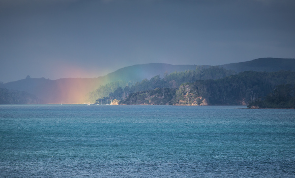 Unusual light in Kawau Bay