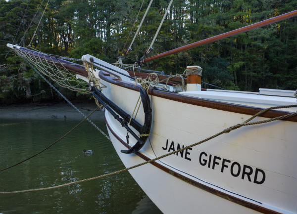 The bows of the Jane Gifford