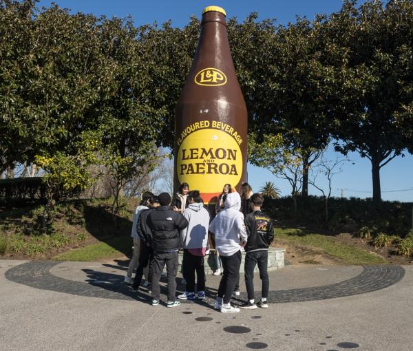 The Lemon and Paeroa Bottle