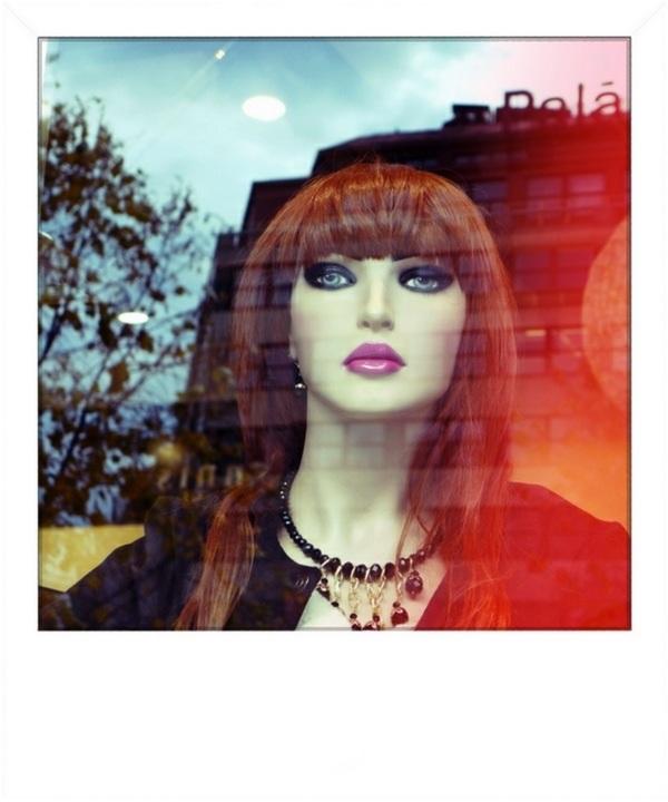 natural reflections, shop and streetlife, polaroid
