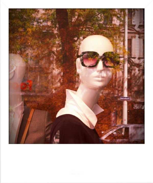 fashion mannequin in shop - polaroid