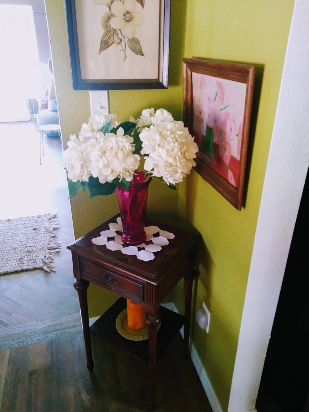 faux hydrangeas paintings