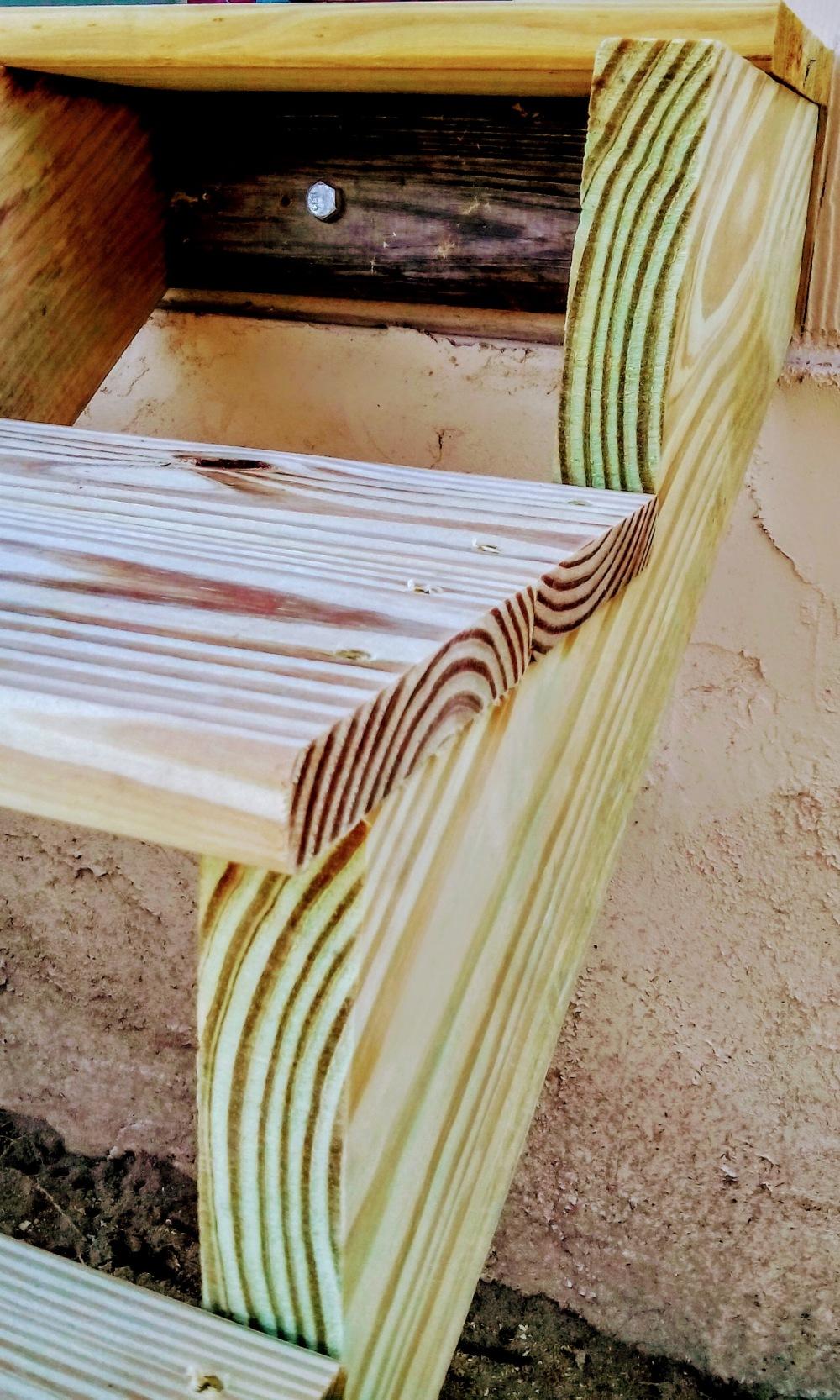 wood grain steps