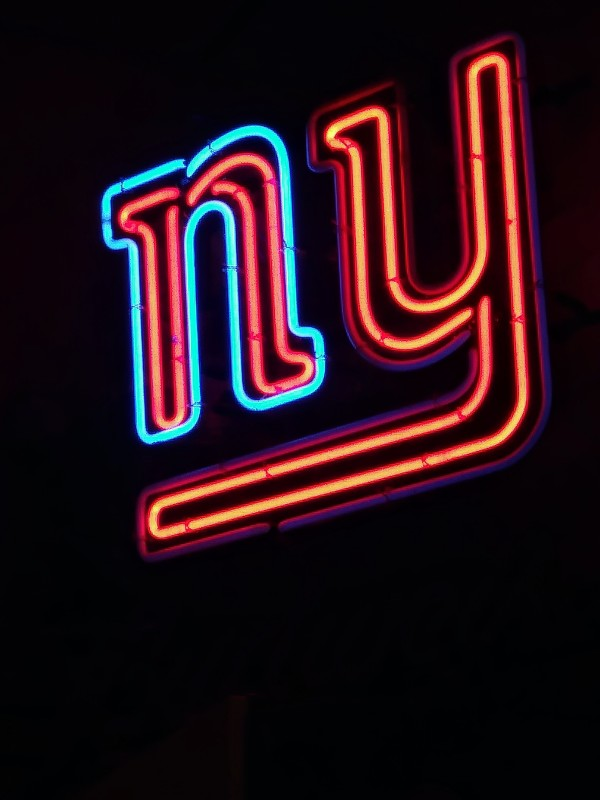 ny logo in lights
