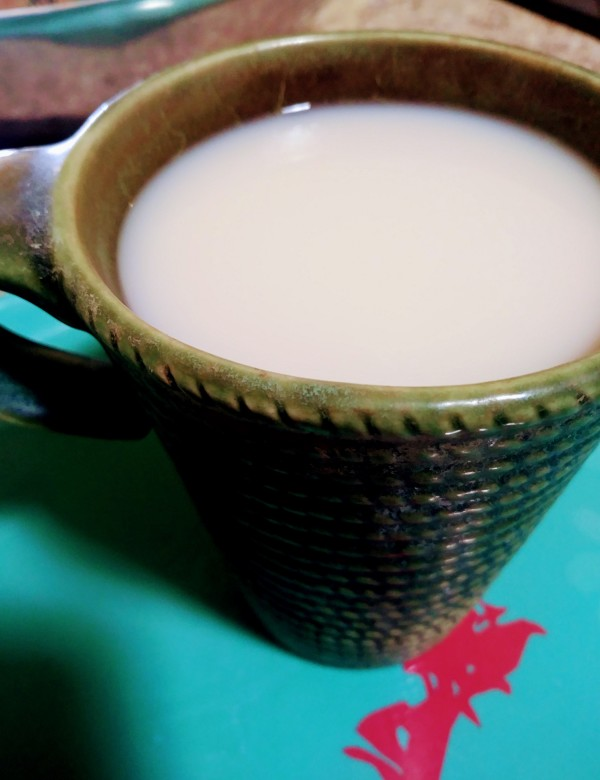 green tea with milk