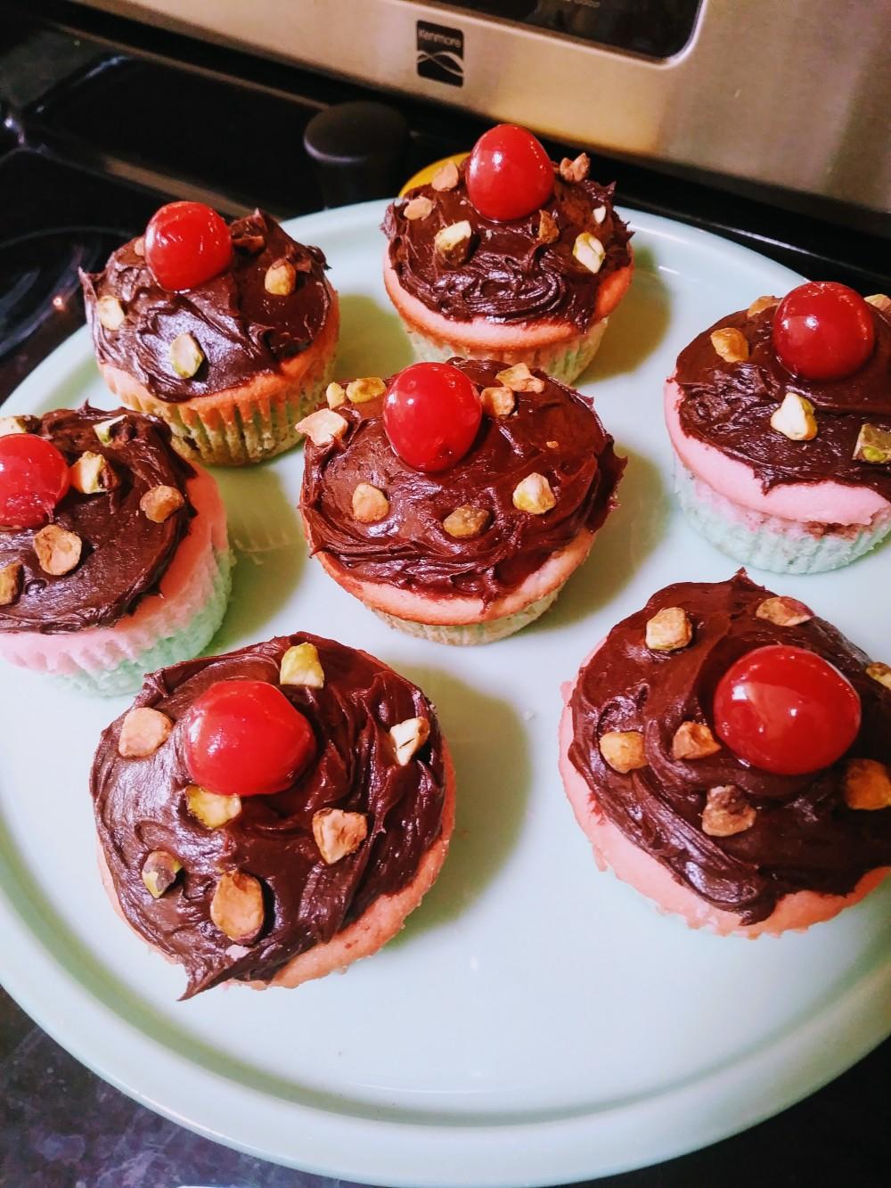 Spumoni Cupcakes II