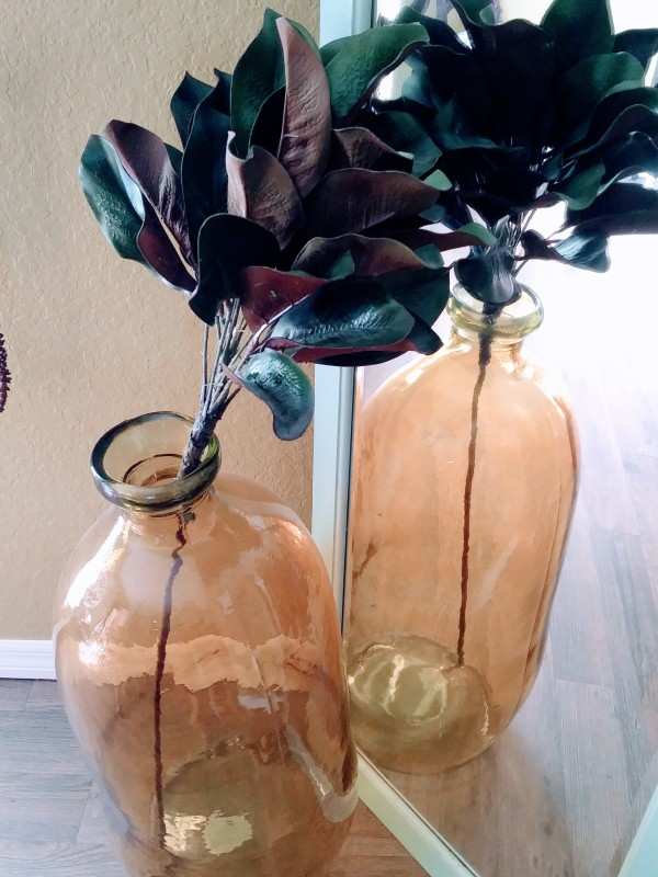 Yellow Glass Jar