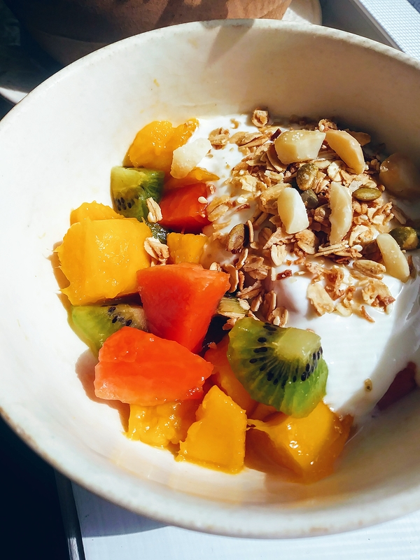 Tropical Fruit with Vanilla Yogurt and Granola