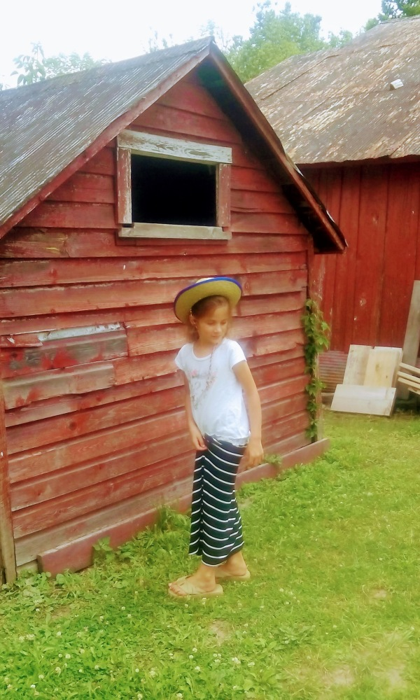 Girl by the Barn