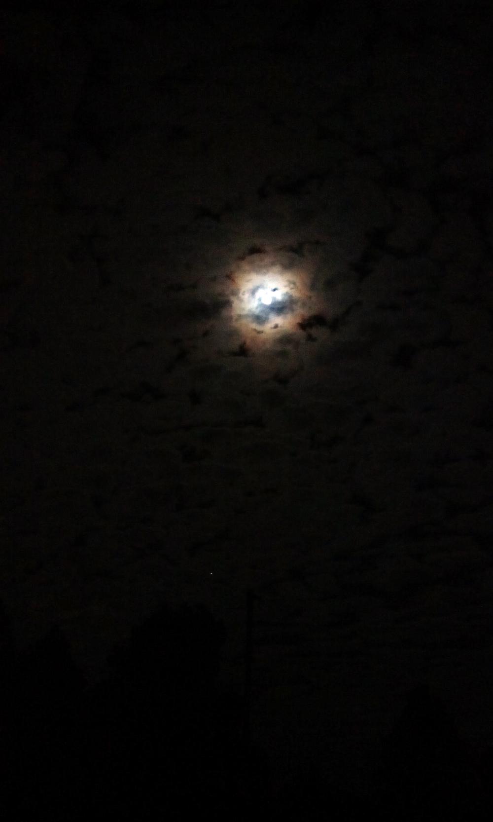 Moon Through Clouds