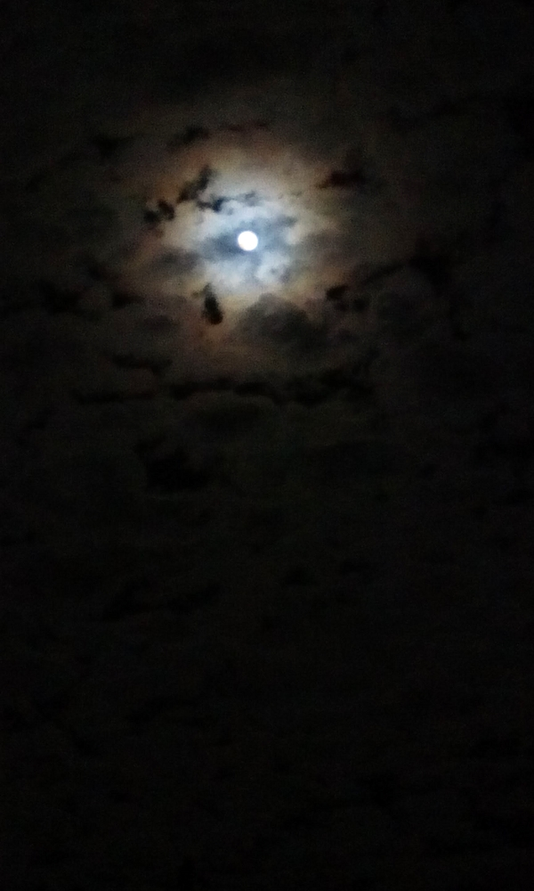 Moon Through Clouds II