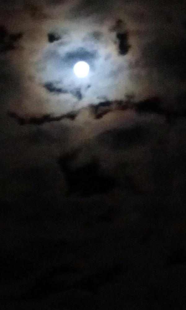 Moon Through Clouds III