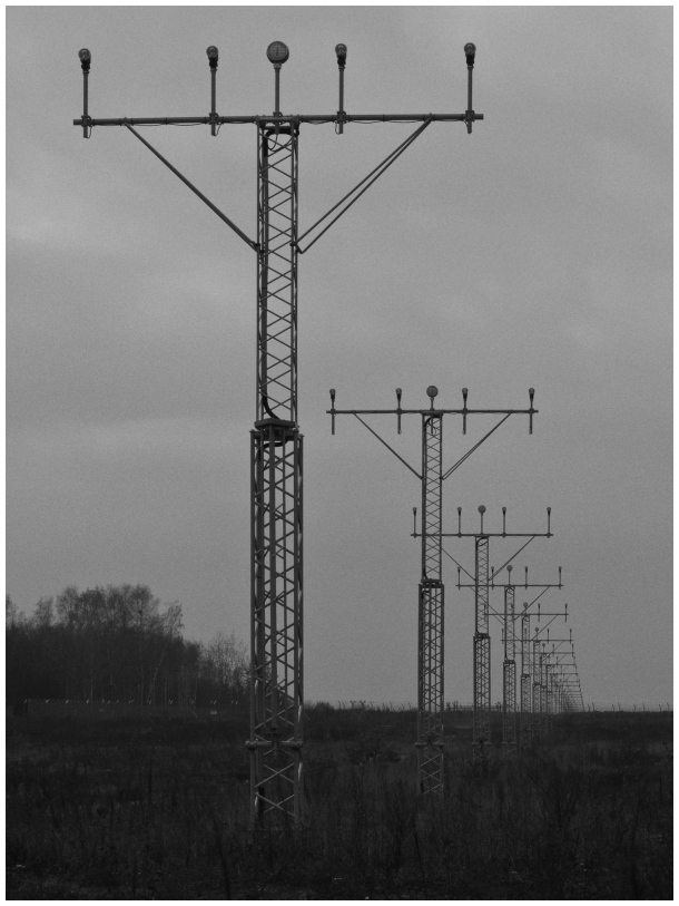 transmission towers [b&w]