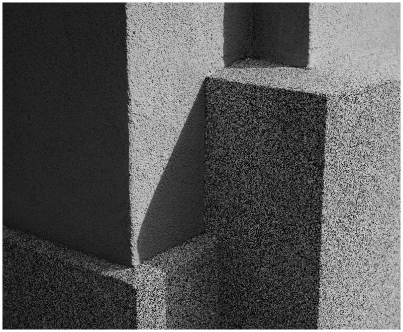 geometric composition with shadows