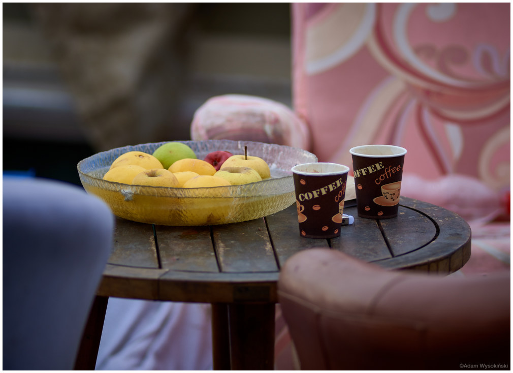 coffee and apples
