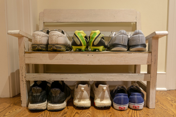 Shoes all lined up