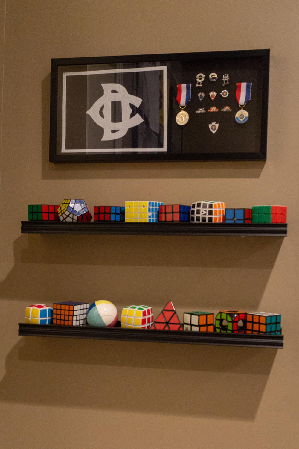 American Archer pins over various Rubix Cubes