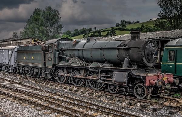 Dumbleton Hall. Steam Locomotive. (2)