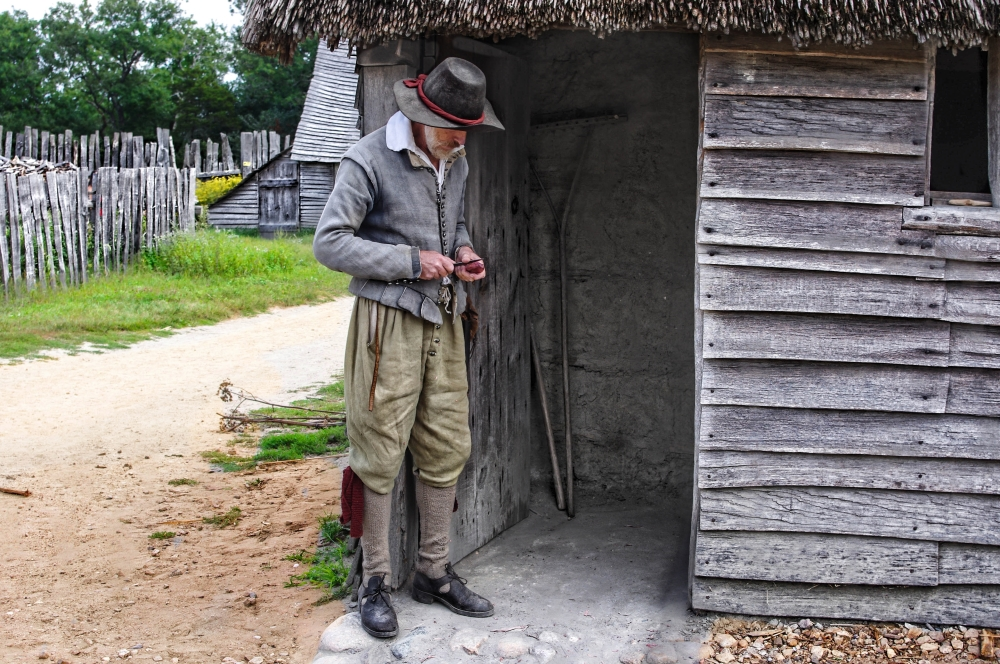 Pilgrim. Plymouth Plantation. Massachusetts.