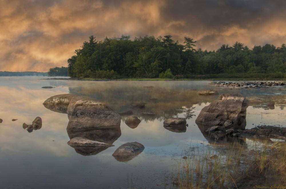 Sunrise. Holbrook Reservoir. Massachusetts.