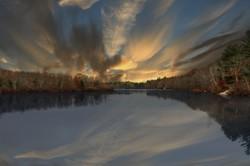 Sunrise. Cleveland Pond. Abington Massachusetts.