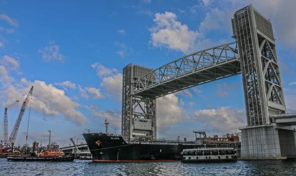 Fore River Bridge. Weymouth Massachusetts.
