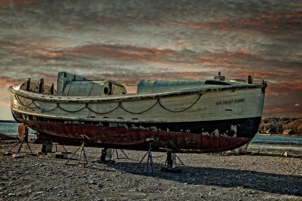 Old Coastguard Boat.  Hull Massachusetts.