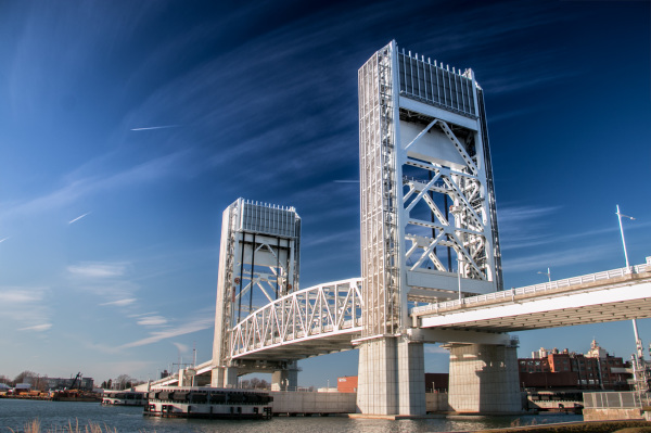 Fore River Bridge. Weymouth Massachusetts.