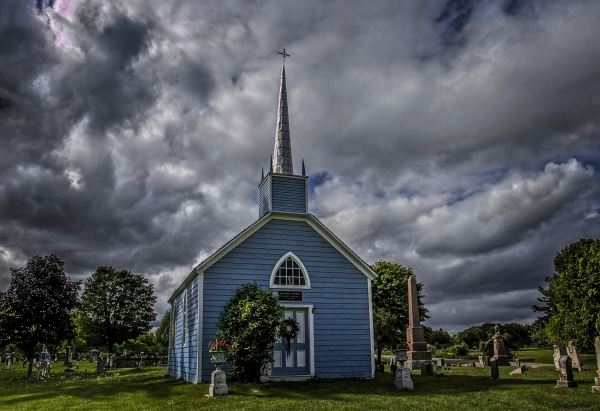 The Blue Church. Prescott Ontario.