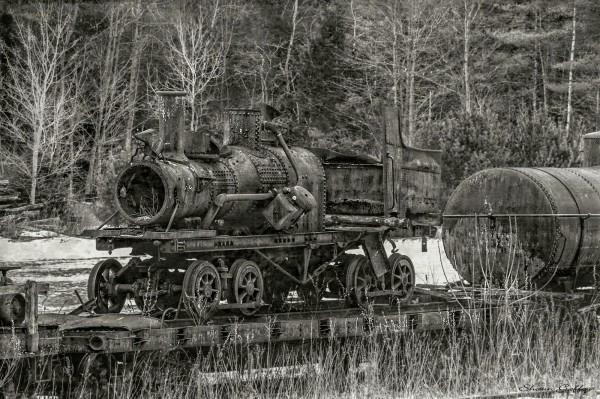 Old Steam Engine. Vermont.