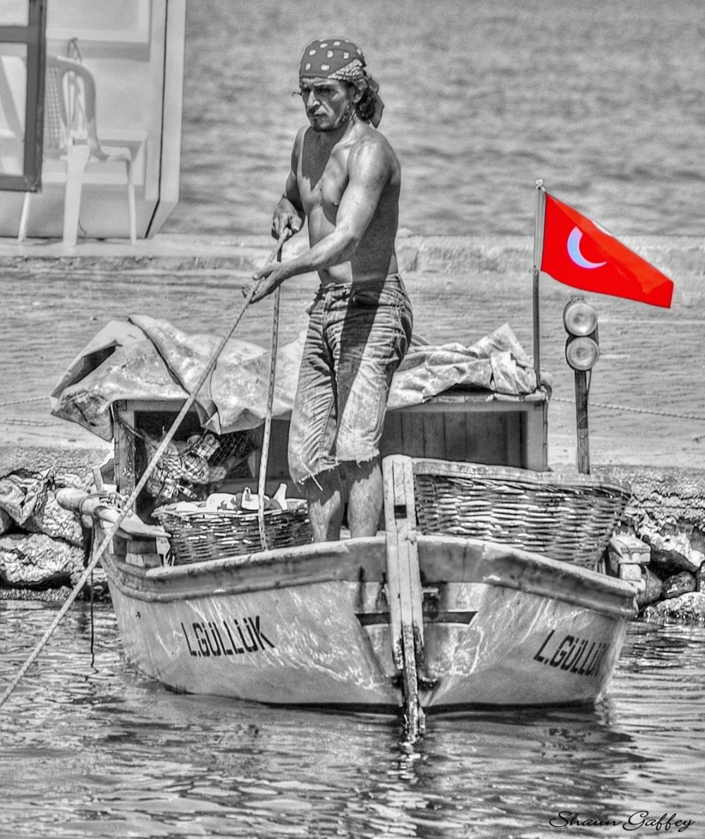 Fisherman. Guzelcamli. Turkey.
