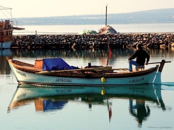 Fishing Boat. Guzelcamli Turkey.