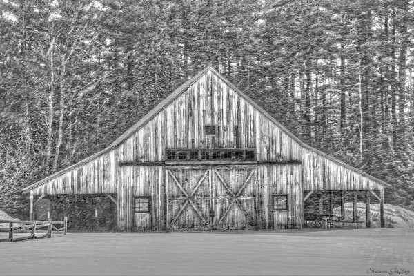Barn. Kancamagus Highway. New Hampshire.