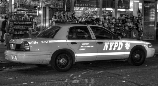 Police Car. Manhattan New York.
