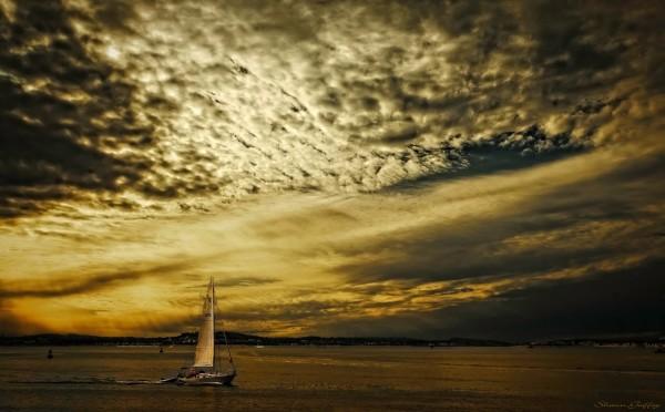 Yacht . Hull, Massachusetts.