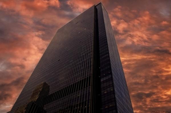 Red Sky Over Manhattan.