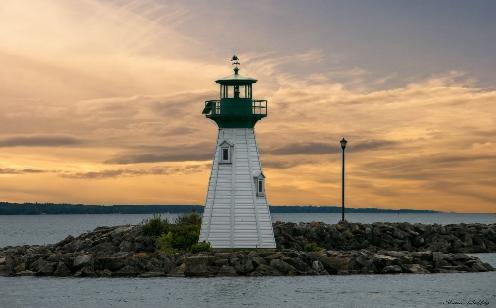 Lighthouse. St Lawrence River. Ontario.