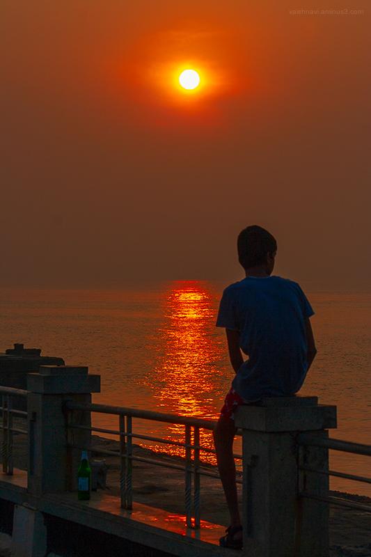enjoying the sunrise....
