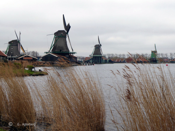 The mills of the Zaanse Schans .