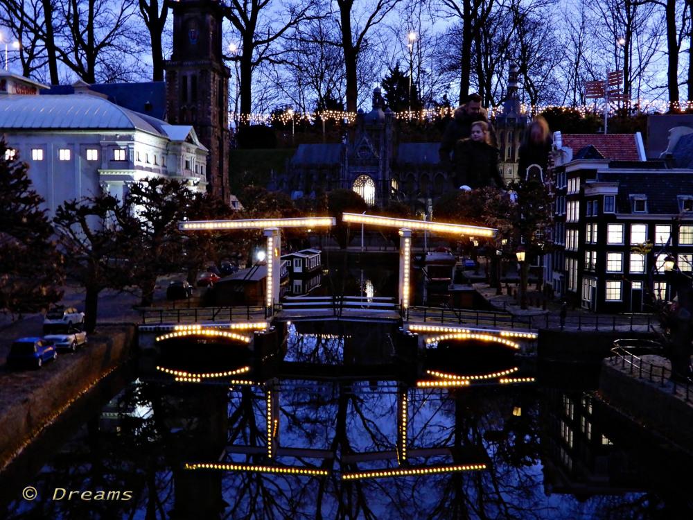 Famous bridge in Amsterdam .