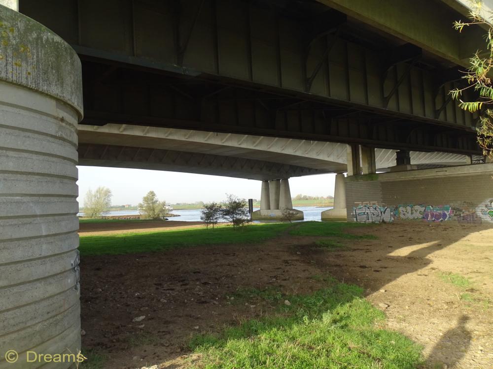 under two bridges .