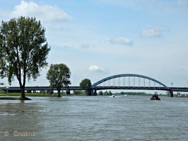 River de Lek with the Lek Bridge  . For Devi