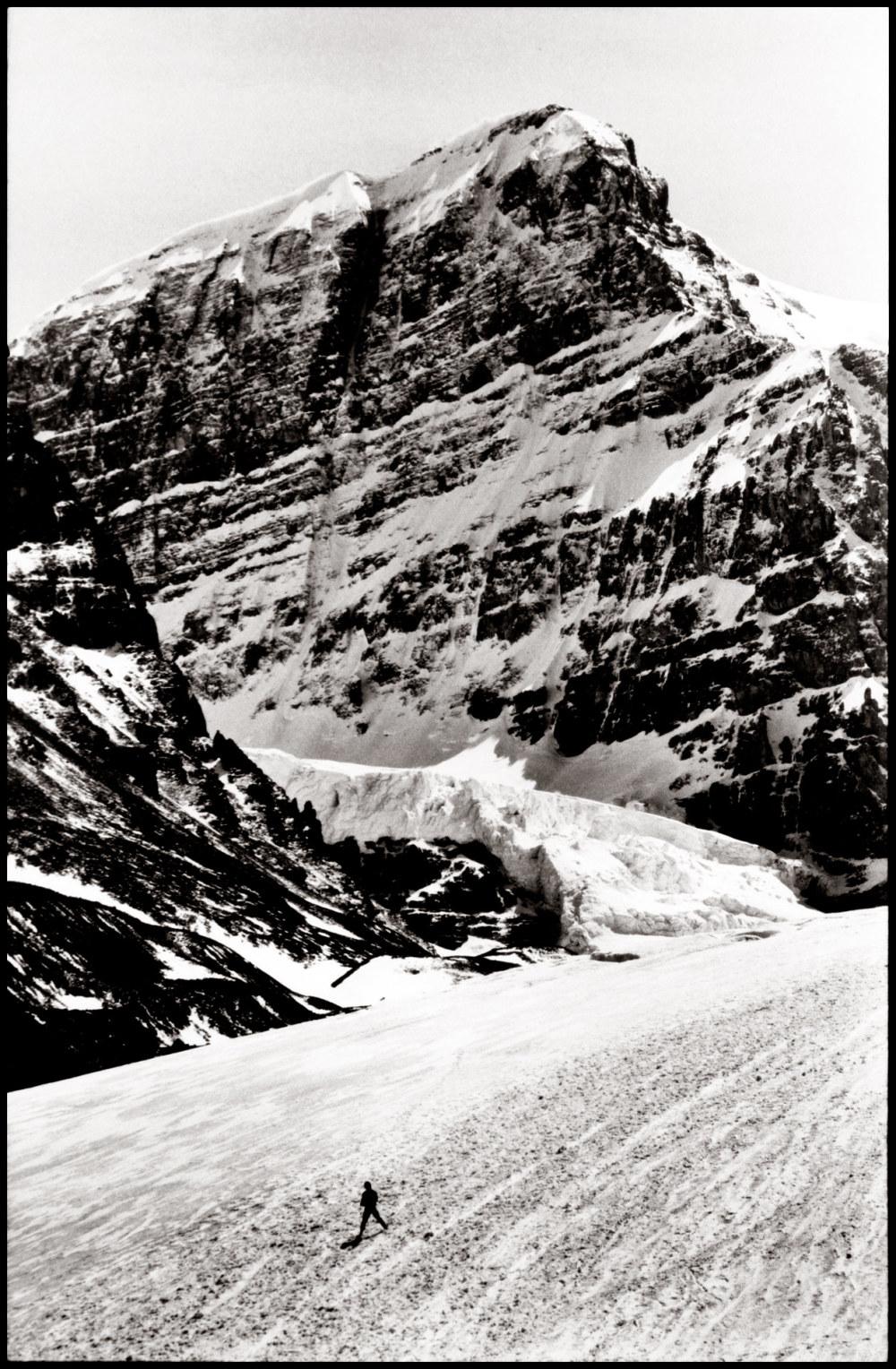 Walking on a glacier