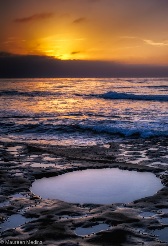 Sunset Tidepools at La Jolla California Beach